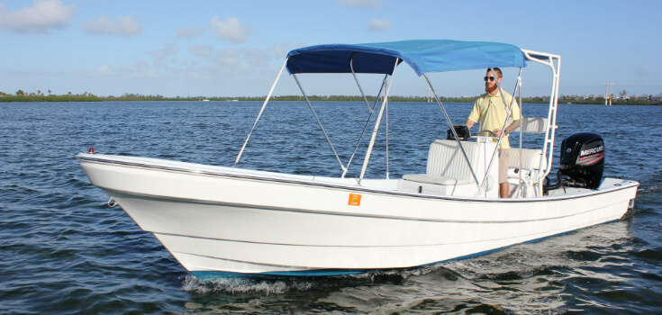 22 Foot Angler Center Console Boat Rental