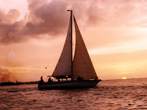 Barefoot Sailing Sunset Champagne Cruise