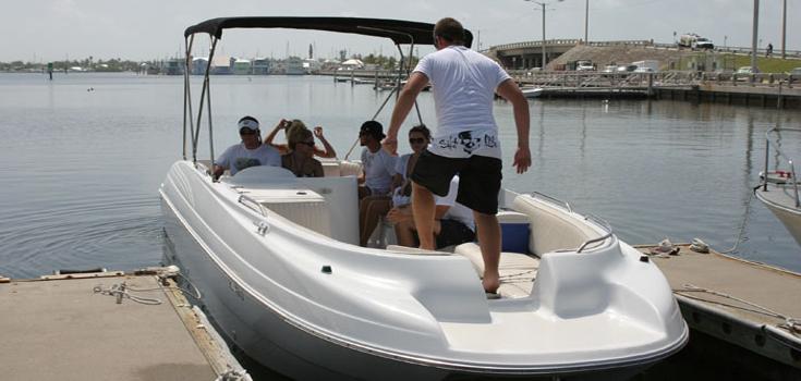 Deck Boat Rental