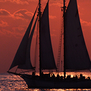 Schooner Windjammer Sunset Sail