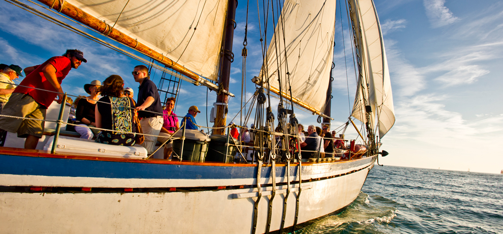 Schooner Windjammer Sunset Sail