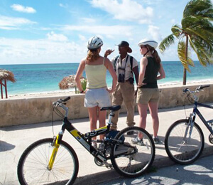 Biking, Shopping, and Beach Tour